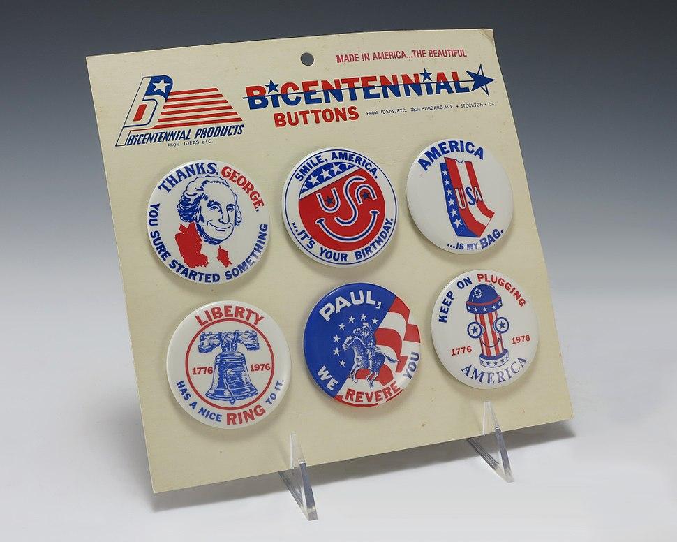 Bicentennial Souvenir Buttons