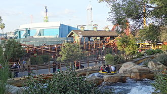Knott's Berry Farm - Big Foot Rapids is located in the Wild Wilderness section of the park.