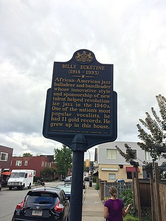 Billy Eckstine - Historical Marker in Highland Park, Pittsburgh, PA.