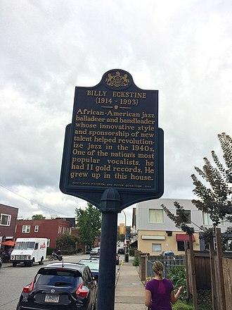 Highland Park, Pennsylvania - Historical Marker in Highland Park.