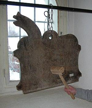 Semantron - A wooden semantron