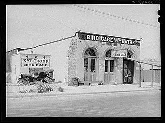 Bird Cage Theatre - Image: Birdcage 1940