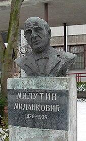 Προτομή του Μιλάνκοβιτς στο Νόβι Σαντ
