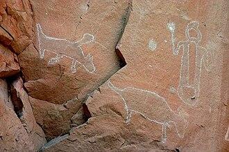 History of South Dakota - Craven Canyon petroglyphs in the Black Hills.