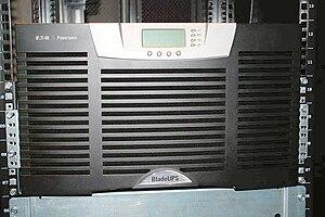 Eaton BladeUPS - Eaton BladeUPS mounted in a 19-inch rack