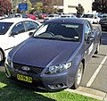 Blue 2008 Ford FG Falcon Ute (Front view).jpg