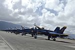 Blue Angels Hornets parked at Marine Corps Air Station Kaneohe Bay 21 Sep 2010.jpg