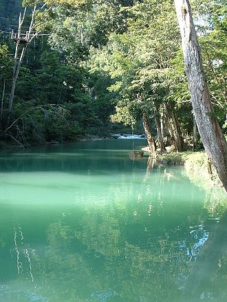 Toledo District - Image: Blue Creek River, Belize