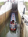Boat in lock, Union Canal - geograph.org.uk - 23336.jpg
