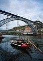 Boat on the Duoro River in Porto (41953875675).jpg