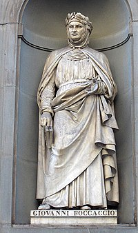 Statue outside the Uffizi, Florence