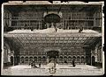 Bodleian Library, Oxford; two panoramic views of the interio Wellcome V0014201.jpg
