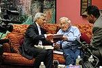 Bolivian Vice President Alvaro Garcia Linera with Noam Chomsky in NYC (8997197548).jpg