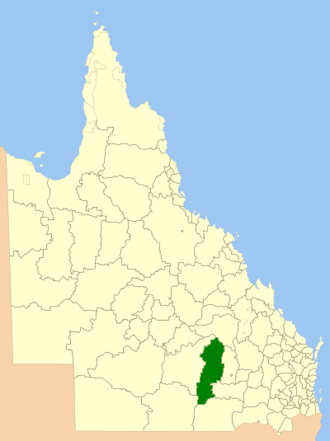 Shire of Booringa - Location within Queensland