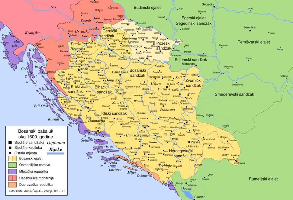 Bosanski pašaluk 1600. godine