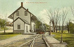 Warner, New Hampshire - Image: Boston & Maine Railroad Depot, Warner, NH