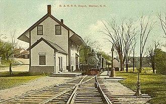 Warner, New Hampshire - Image: Boston & Maine Railroad Depot, Warner, NH