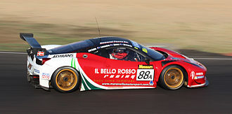 2014 Liqui Moly Bathurst 12 Hour - The race winning Ferrari 458 GT3 of John Bowe, Peter Edwards, Craig Lowndes and Mika Salo.