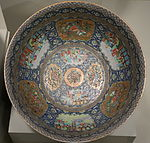 Bowl made for Zil el-Sultan, Governor of Isfahan in Persia, Chinese porcelain, 1879 - Winterthur Museum - DSC01551.JPG