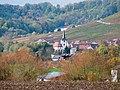 Brackenheim - Stockheim - Blick von Osten auf St. Ulrich mit Herbstlaub 1.jpg