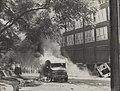 Branden, vernielingen, vervoermiddelen, kranten, kantoren, Bestanddeelnr 044-0853.jpg