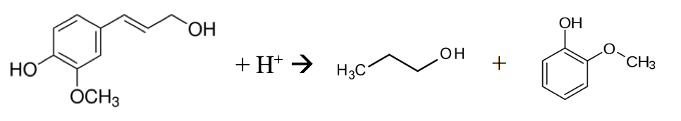 Breakdown of coniferyl alcohol