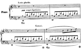 Consolations (Liszt) - Consolation No. 3, First few bars.