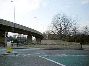 Bricklayers' Arms - Bricklayers' Arms roundabout and flyover.