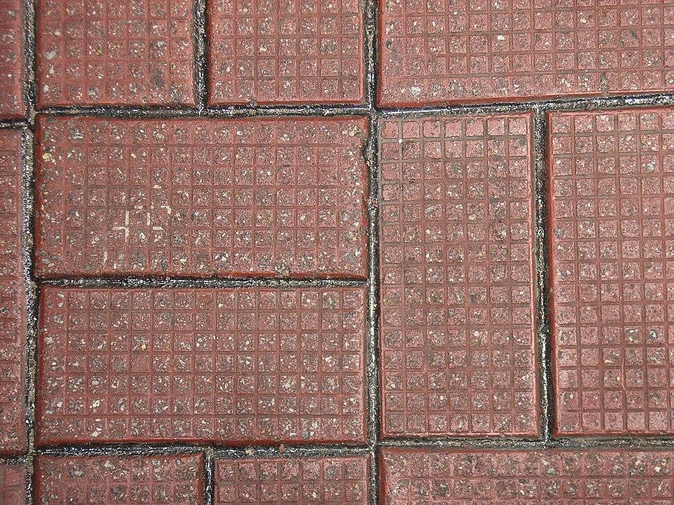 Bricks on the ground in Wan Chai, Hong Kong