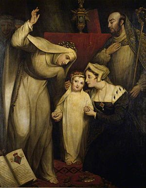 Bridget of York - Princess Bridget Plantagenet, Dedicated to the Nunnery at Dartford  by James Northcote (1822)