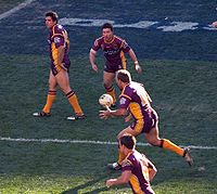 The Broncos launching an attack