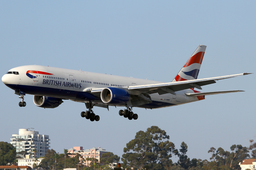 British Airways Boeing 777-200ER G-YMMS SAN 2011-7-28