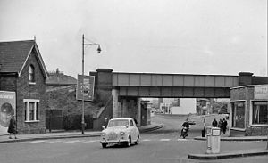 Brockley Lane railway station - Site of Brockley Lane station in 1962