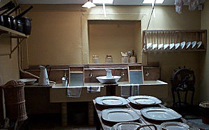 Scullery (room) - The scullery of Brodick Castle