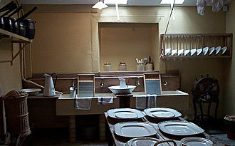 Scullery - The scullery of Brodick Castle