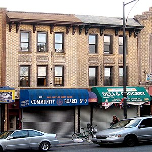 Community boards of New York City - The district office (district manager's office) of Brooklyn Community Board 9