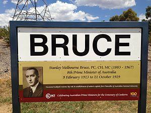 Bruce, Australian Capital Territory - Suburb sign