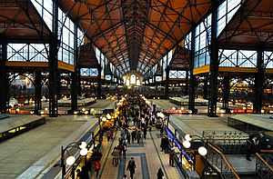 Great Market Hall (Budapest) - Overview of the Great Market Hall inside