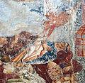 Buffalmacco, trionfo della morte, diavoli 12 angelo che prende l'anima di un vescovo.jpg