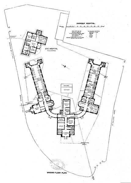 File Building Plan Of Swansea Hospital 1893 Wellcome