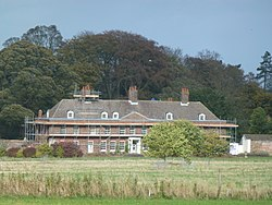 Building work at Anmer Hall, Norfolk (geograph 3720582).jpg
