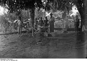 History of Cameroon - German Settlers celebrating Christmas in Kamerun