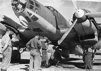 German involvement in the Spanish Civil War - A German Heinkel He 111E medium bomber of the Condor Legion.