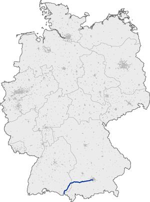 Bundesautobahn 96 - Image: Bundesautobahn 96 map