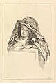 Bust Portrait of a Woman wearing a Hooded Mantle MET DP825496.jpg