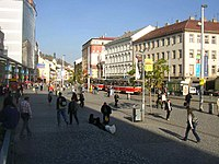 Busy centre of Smichov Prague CZ 713.jpg