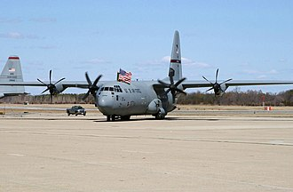 143d Airlift Wing - 143d Airlift Squadron Lockheed C-130J-30 Hercules