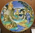 C.sf., urbino, francesco xanto avelli, tondino con dedalo e talo o perdice, 1531 circa.JPG