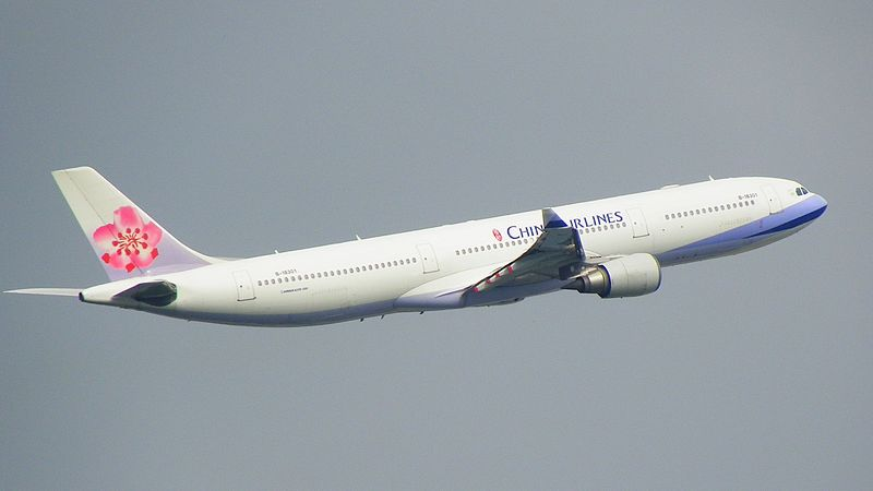 File:CAL Airbus A330-300 B-18301 Climbing up 20111227.JPG