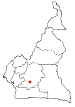 Map of Cameroon showing the location of Yaounde.